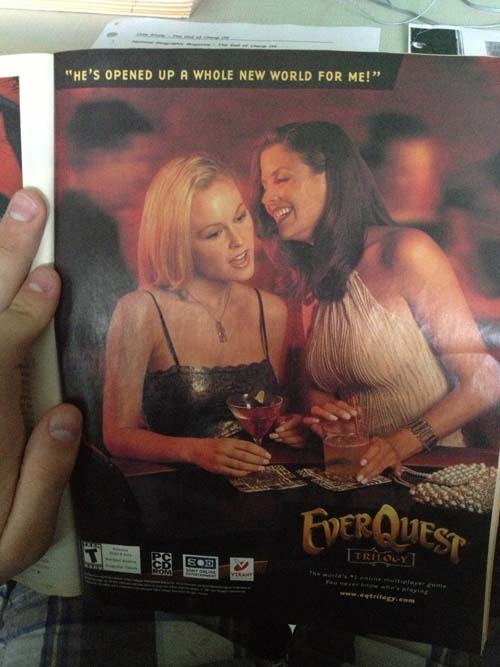 Funny EverQuest 1 Magazine Ad Funny Pic - SlightlyQualified.com