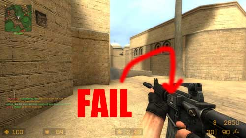 CounterStrike Source Ejection Port M4 Fail Pic - SlightlyQualified.com