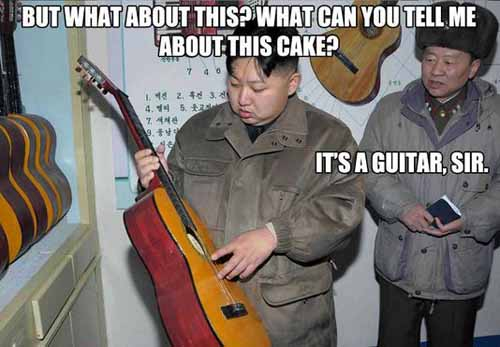 Kim Jong-un Plays the Guitar - SlightlyQualified.com