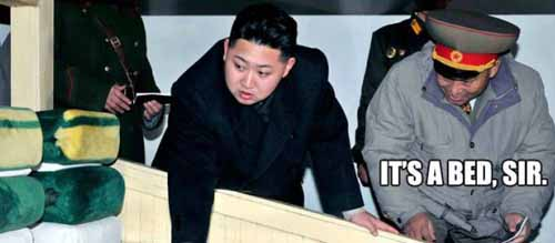 Kim Jong-un It's a Bed Sir - SlightlyQualified.com