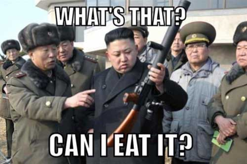 Kim Jong-un Can I Eat It Funny Pic - SlightlyQualified.com