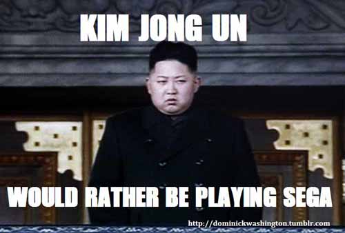 Kim Jong-un Would Rather Play Sega - SlightlyQualified.com