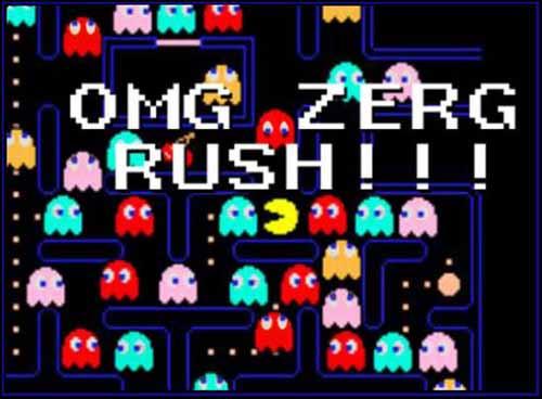Zerg Rush Pac Man - SlightlyQualified.com