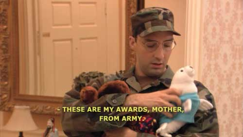 Buster Bluth Army Awards - SlightlyQualified.com