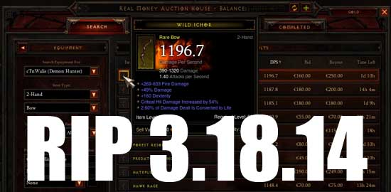 Diablo III Real Money Auction House Ends March 18th, 2014 - SlightlyQualified.com