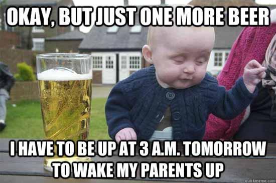 Drunk Baby Meme - SlightlyQualified.com