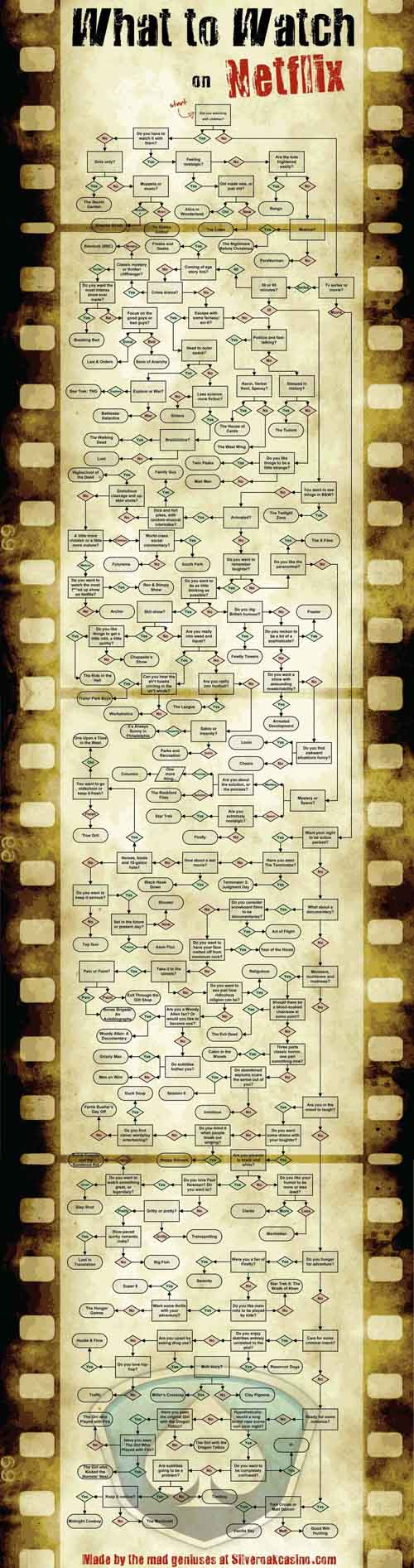 What to Watch on Netflix Flowchart - SlightlyQualified.com
