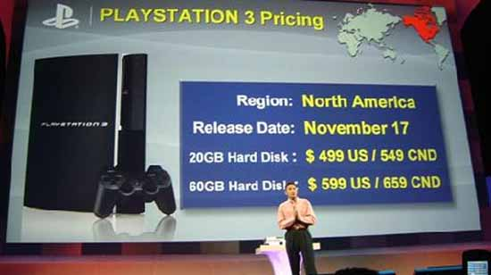 Sony PS3 Launch Pricing - SlightlyQualified.com