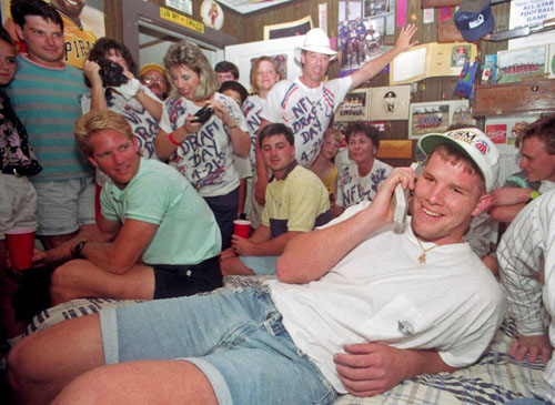 Brett Favre 1991 Draft Day Picture - SlightlyQualified.com