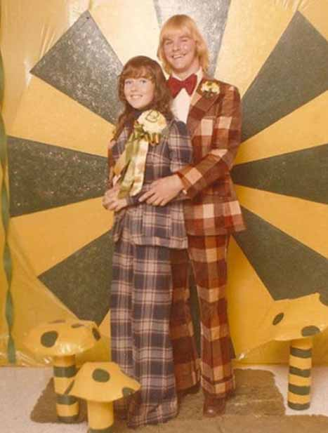 Funny 60s Plaid Prom Picture - SlightlyQualified.com Funny Pics