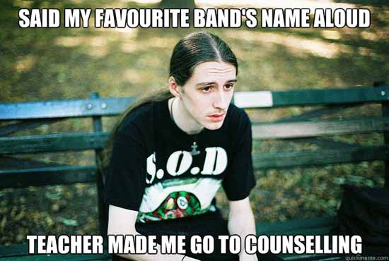 Funny Metelhead Favorite Bands Name Meme Picture - SlightlyQualified.com Funny Pics, Military and Business Analysis