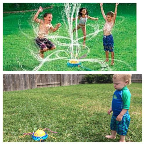 Advertising vs Reality Sprinkler Fail Kid - SlightlyQualified.com