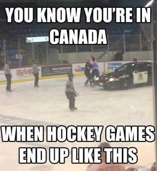 Funny Hockey Pic in Canada - SlightlyQualified.com Funny Pics and Videos