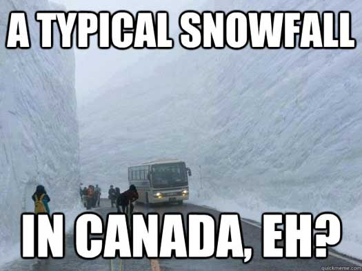 Funny Canada Pic A Typical Snowfall in Canada Eh - SlightlyQualified.com