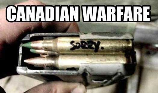Funny Canadian Military Warfare Pic - SlightlyQualified.com Military Humor