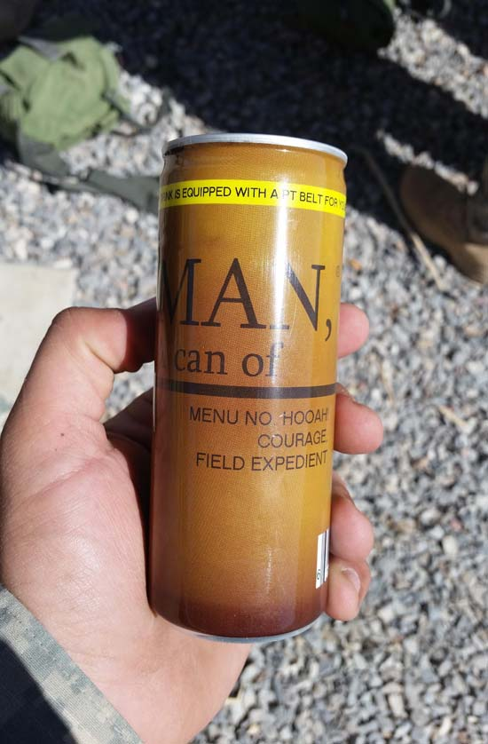 New MRE Menu Item: Can of Man Energy Drink - SlightlyQualified.com Military Videos, Funny Pictures and Heaps of Sarcasm