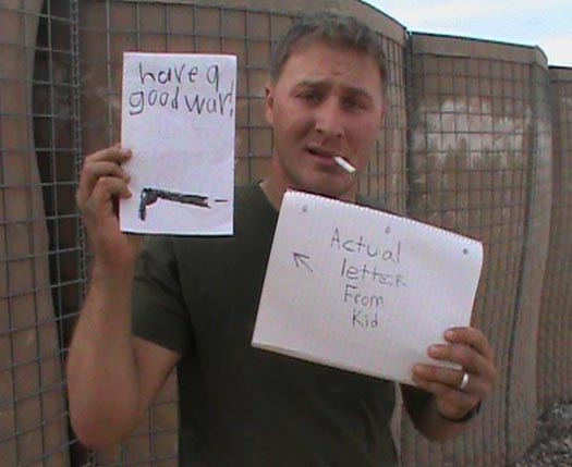 Marine Gets Funny Deployment Letter in Afghanistan Care Package - SlightlyQualified.com Military Humor, Funny Pics and Videos