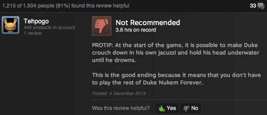 Funny Duke Nukem Forever Review Pic - SlightlyQualified.com Funny Pics, Videos and Military Humor