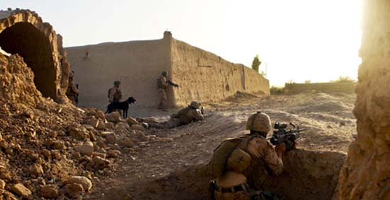 3/5 Marines on Patrol in Sangin District, Afghanistan - SlightlyQualified.com Military Videos, Analysis, and More