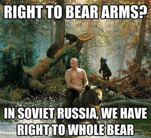 Putin Riding a Bear Funny Pic - SlightlyQualified.com