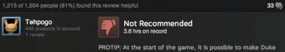 Funniest Duke Nukem Forever Review Ever
