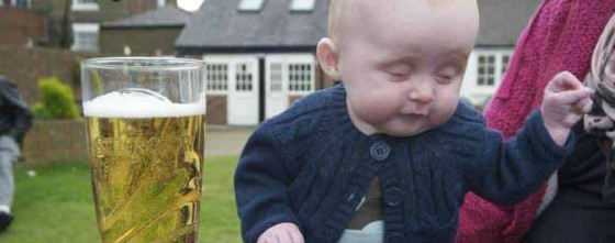 A Little (Literally) Drunk Baby for Your Saturday Night