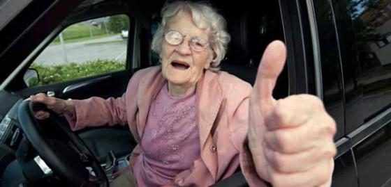 Kid Avoids Banana Peels, Drives Grandma to Safety
